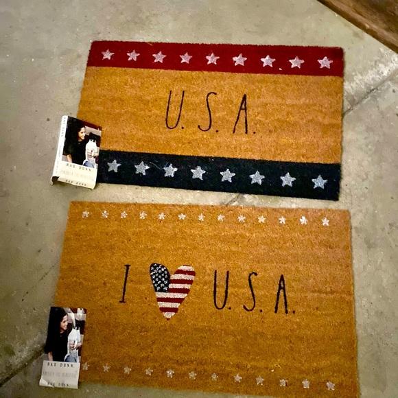 Rae Dunn USA door mats